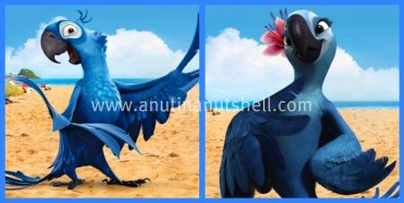 Blu and Jewel - Rio movie