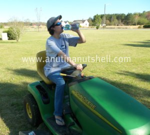 Mowing the lawn with Propel Zero