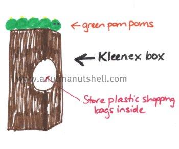 make a bag saver from tissue box