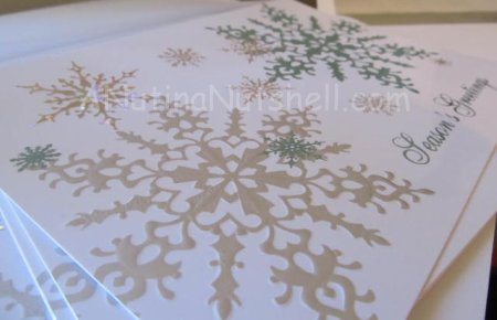 snowflake holiday cards