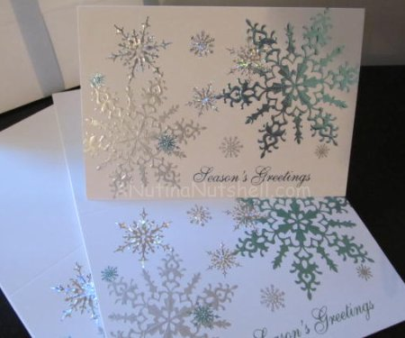 Gallery Collection snowflake Christmas cards