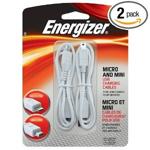 Energizer Micro and Mini USB Charging Cables