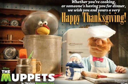 Muppets movie opens November 23, 2011