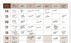 BusyBodyBooks wall calendar