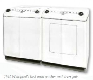 Whirlpool first auto washer dryer pair 1949