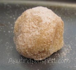 cinnamon maple sugar cookie ball