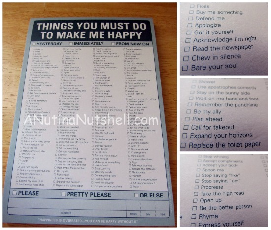 Knock-Knock-Things You Must Do To Make Me Happy Pad