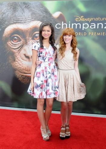 Bella-Thorne-Zendaya-Chimpanzee-premiere