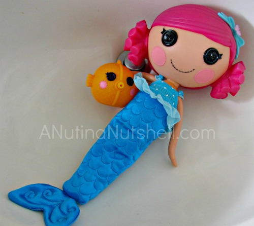 Lalaloopsy mermaid in sink