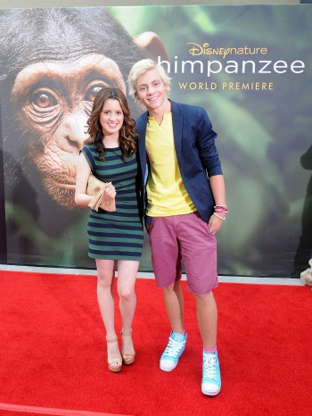 Ross Lynch-Laura Marano-Chimpanzee-premiere