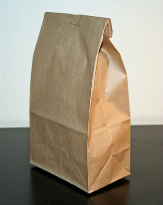Brown Bag with staple