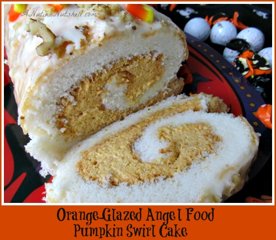 Orange-Glazed-Angel-Food-Pumpkin-Swirl-Cake