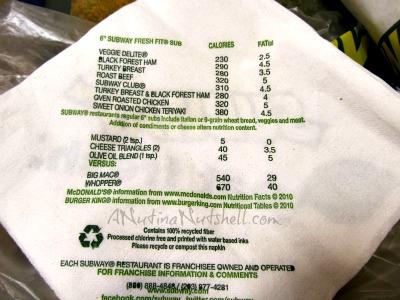 Subway-napkin