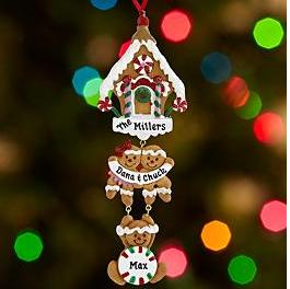 Personal Creations gingerbread family ornament