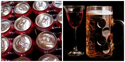 soda-beer-wine