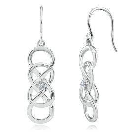 INFINITY X INFINITY™ DIAMOND EARRINGS IN STERLING SILVER