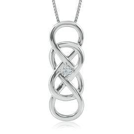INFINITY X INFINITY™ DIAMOND PENDANT IN STERLING SILVER