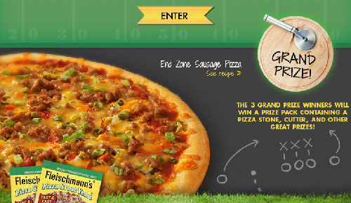 Fleischmann's Big Game Pizza Crust Yeast Sweepstakes