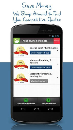 Friend Trusted app competitive quotes