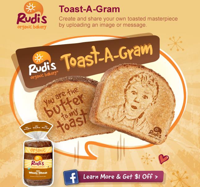 Rudis Organice Bakery Toast-a-Gram