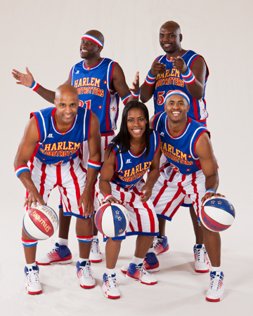 Harlem Globetrotters players