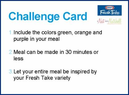 Kraft-Fresh-Take challenge card 1