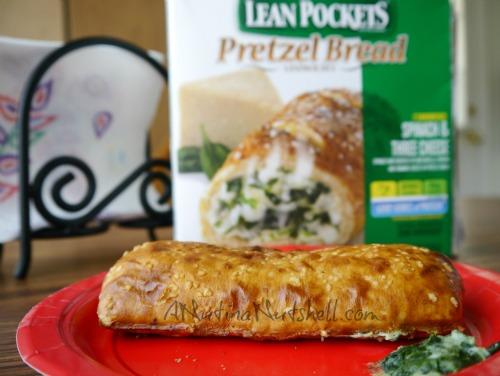 Lean Pockets Pretzel Bread spinach-cheese