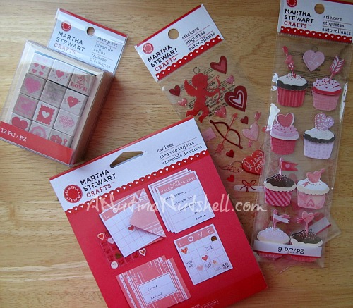 Martha Stewart Valentine crafts supplies
