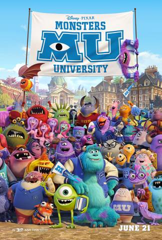 Monsters U poster
