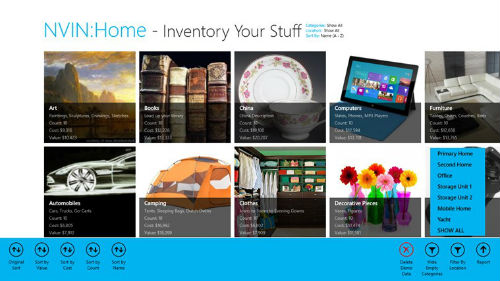 NVIN Home app windows 8