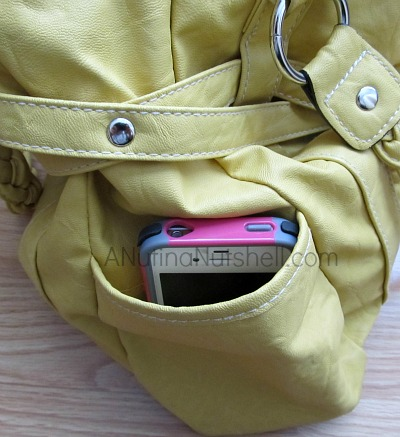 cell phone in purse