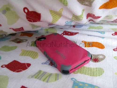 cell phone under pillow