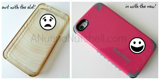 old and new cell phone covers
