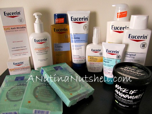Eucerin hydration spa party products
