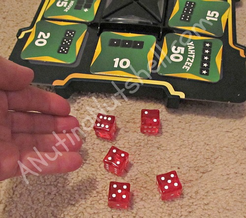 World Series of Yahtzee fast action dice game