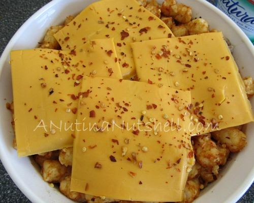 tater tot casserole - add cheese