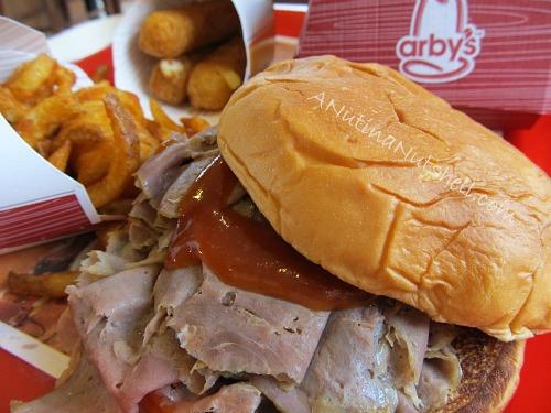 Arby's King's Hawaiian Roast Beef sandwich