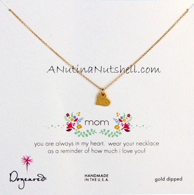 Dogeared mother's day heart necklace