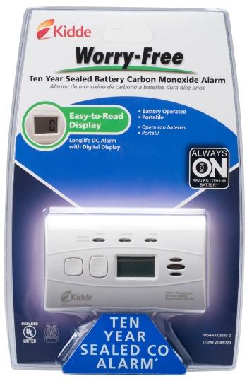 Kidde Worry-free LCD CO Alarm