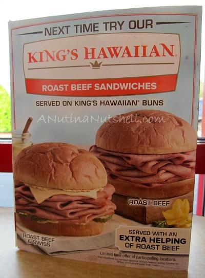 Arby's King's Hawaiian roast beef sandwiches