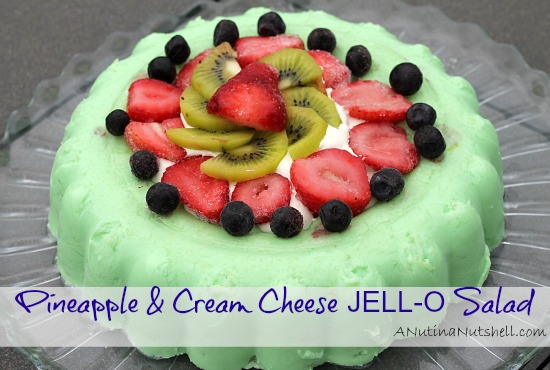 Pineapple_Cream_Cheese JELL-O Salad #recipe