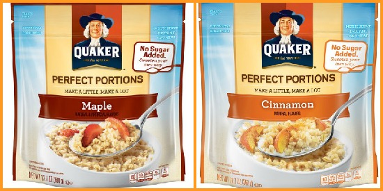 Quaker Perfect Portions oatmeal