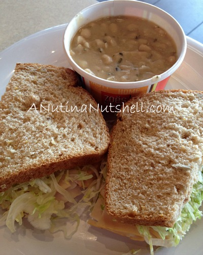 Zoes Kitchen - Turkey sandwich - braised white beans