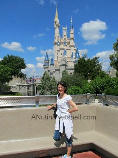 me by Cinderella's Castle WDW
