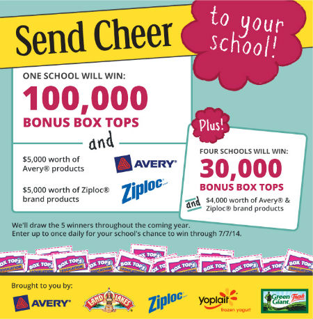 Box Tops for Education Send Cheer sweepstakes