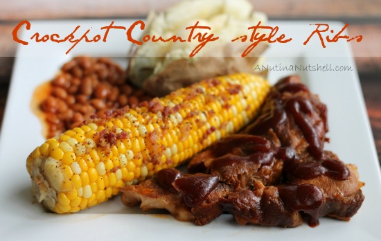Crockpot Country Style Ribs #recipe