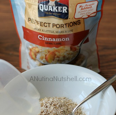 Quaker Perfect Portions instant oatmeal