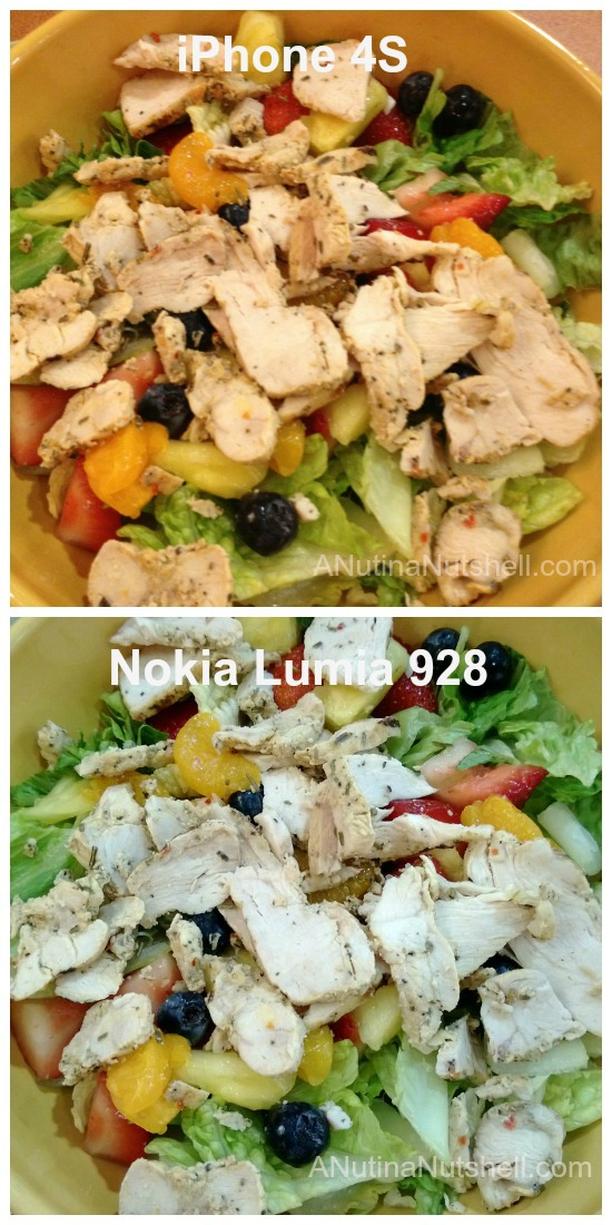 salad camera photo comparison iPhone 4S -Nokia Lumia 928