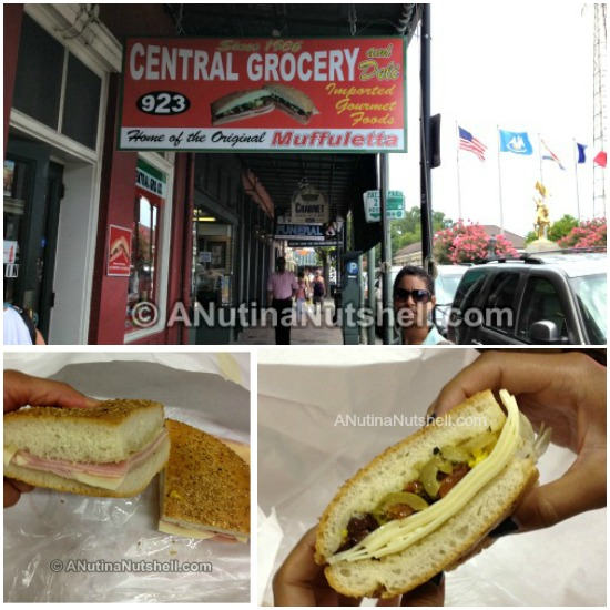 Central Grocery Co muffuletta lunch