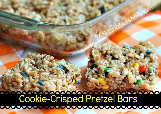 Cookie-Crisped Pretzel Bars #recipe #Biscoff